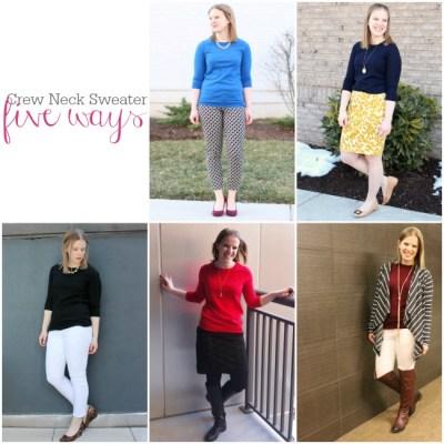 Five Ways to Wear a Crew Neck Sweater