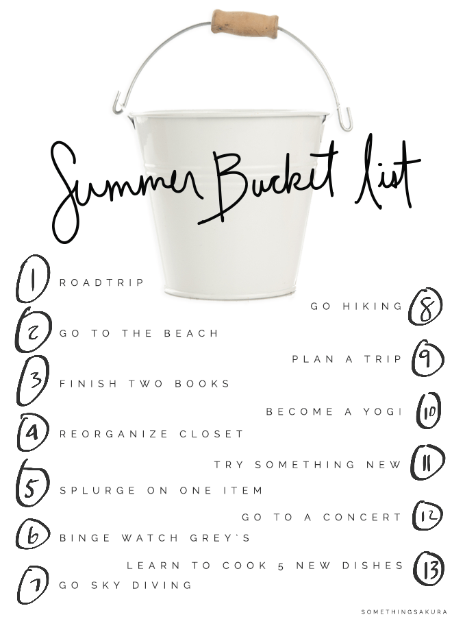 Something Sakura: Summer Bucket List