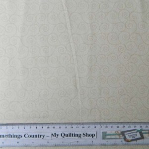 Quilting Patchwork Sewing Fabric CREAM SWIRLS TONAL 50x55cm FQ NEW