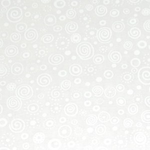 Patchwork Quilting Sewing Fabric WHITE CIRCLES TONAL Material 50x55cm New