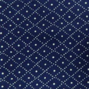 Patchwork Quilting Sewing Fabric NAVY and WHITE CROSS HATCH FQ 50x55cm New Material