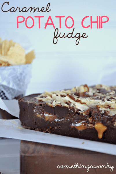 Caramel Potato Chip Fudge