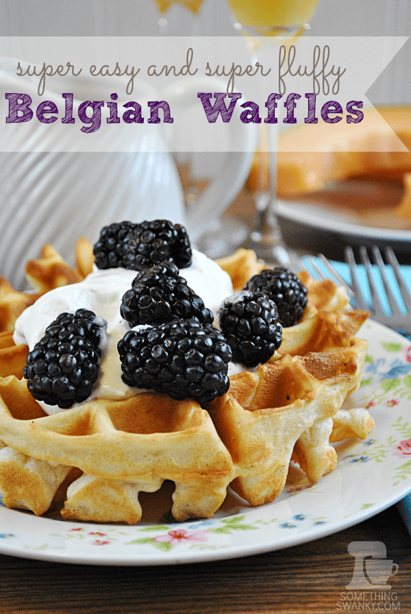 Easy and Fluffy Belgian Waffles from www.somethingswanky.com | I love ...