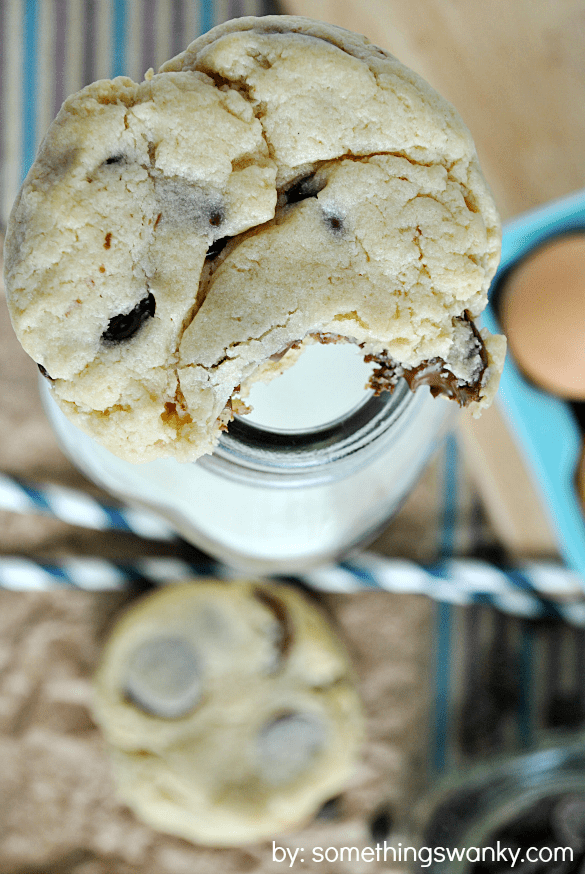 Chocolate Chip Cheesecake Cookies are about as good as it gets! Real cream cheese in the dough gives these cookies their REAL cheesecake taste! | www.somethingswanky.com