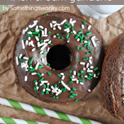 Chocolate #Donuts with #Irish Cream Ganache from www.somethingswanky.com