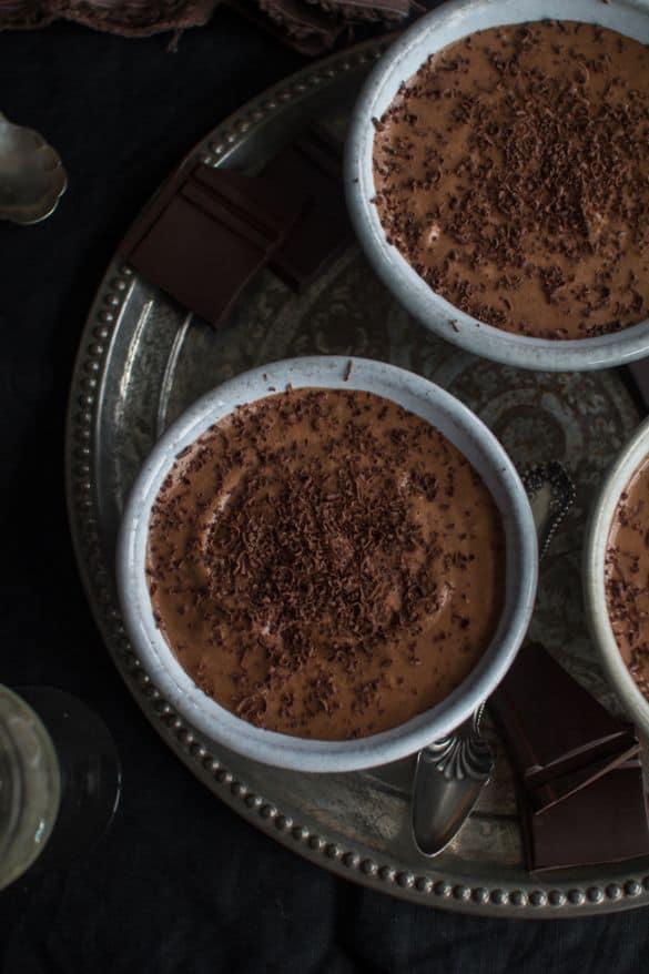 dark chocolate espresso mousse