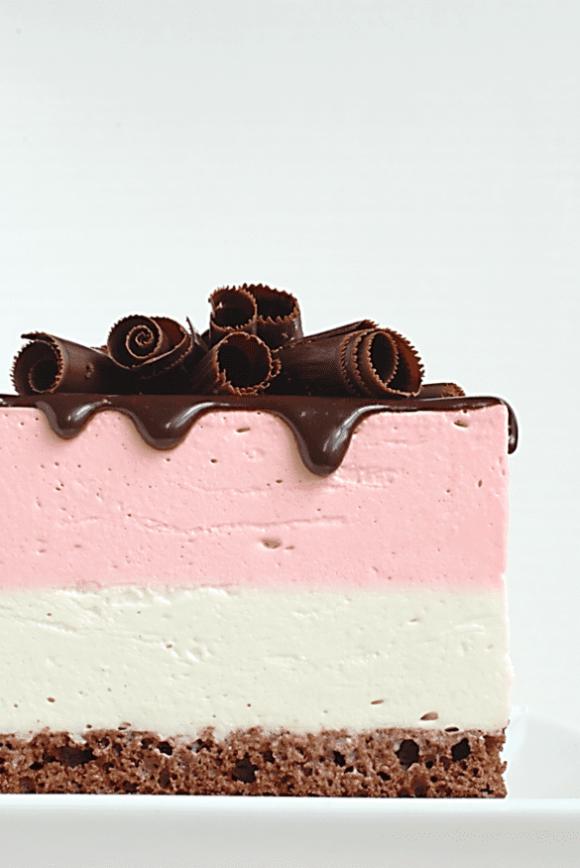 neopolitan mousse cake