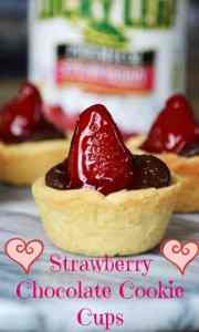 Chocolate Strawberry Cookie Cups
