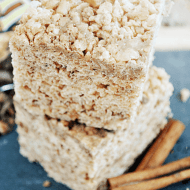 Toffee Snickerdoodle Krispies Treats from www.somethingswanky.com