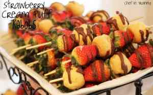 strawberry cream puff kabobs