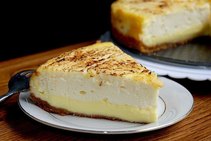 Layered Creme Brulee Cheesecake