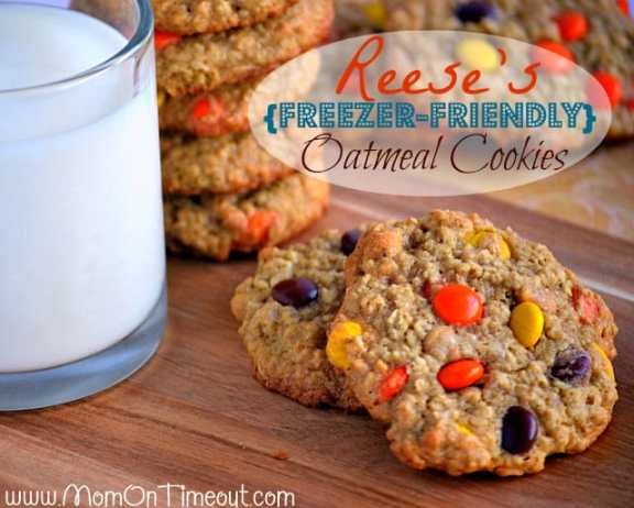 Reeses-Freezer-Friendly-Oatmeal-Cookies