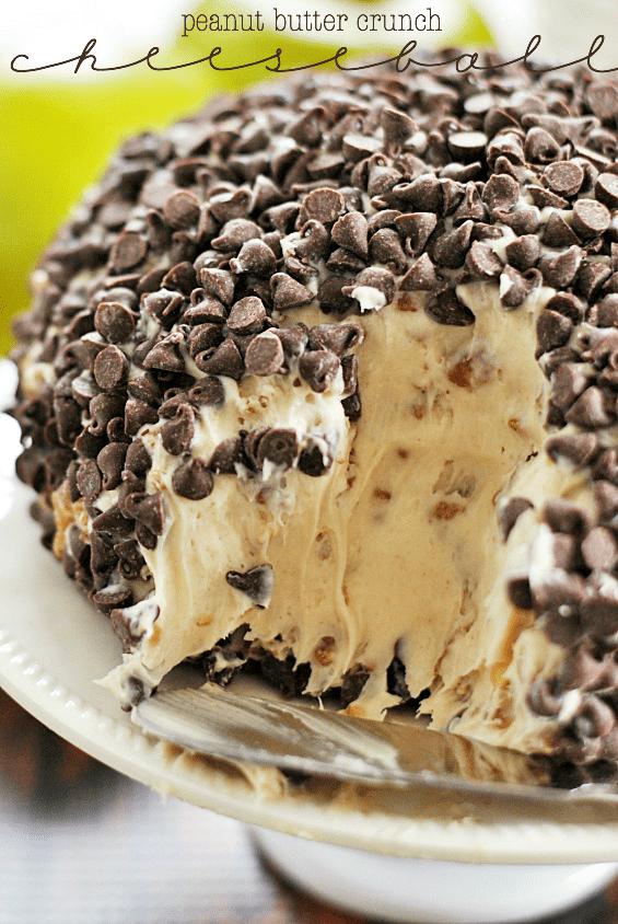 Peanut Butter Crunch Cheeseball | www.somethingswanky.com