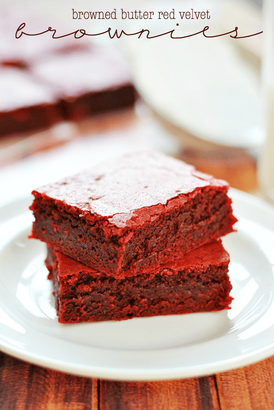 Browned Butter Red Velvet Brownies | www.somethingswanky.com