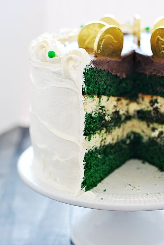 Green Velvet Cheesecake Cake - Something Swanky