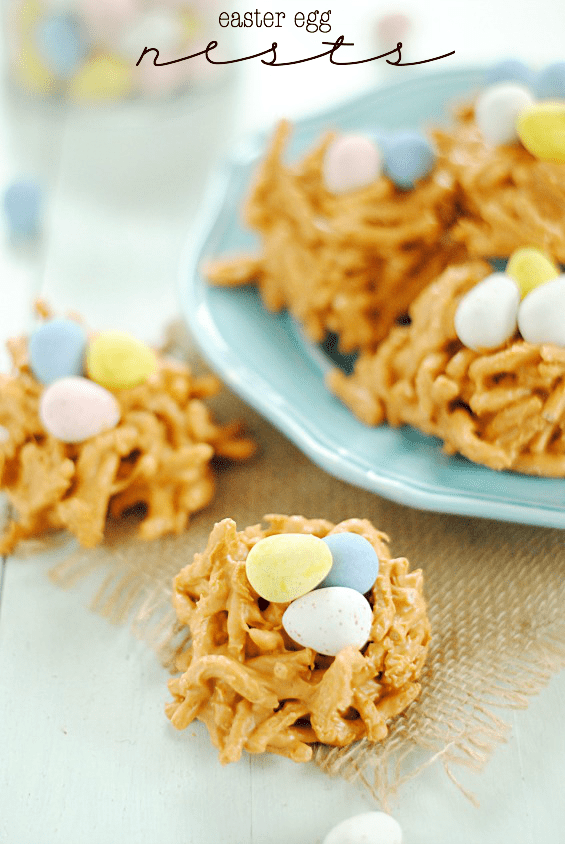 Easter Egg Haystacks | www.somethingswanky.com