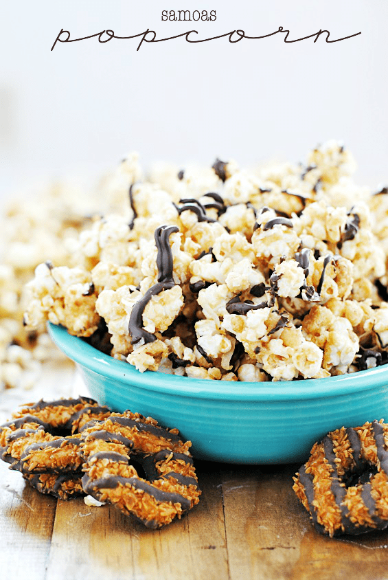 Samoas Popcorn | www.somethingswanky.com