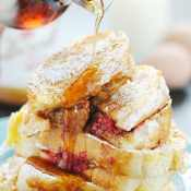 Biscoff Raspberry Stuffed French Toast | www.somethingswanky.com