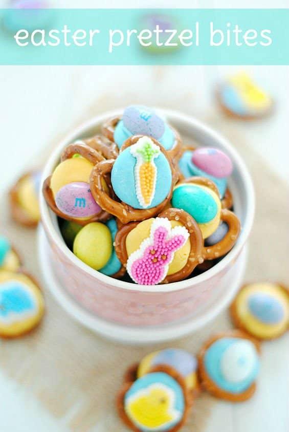 Easter Pretzel Bites   www.somethingswanky.com