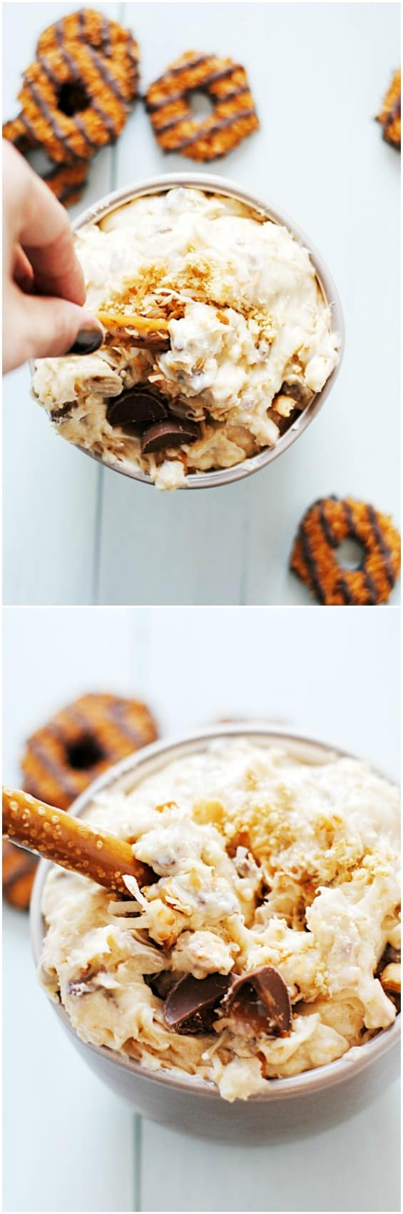 Samoas-inspired Dip | www.somethingswanky.com