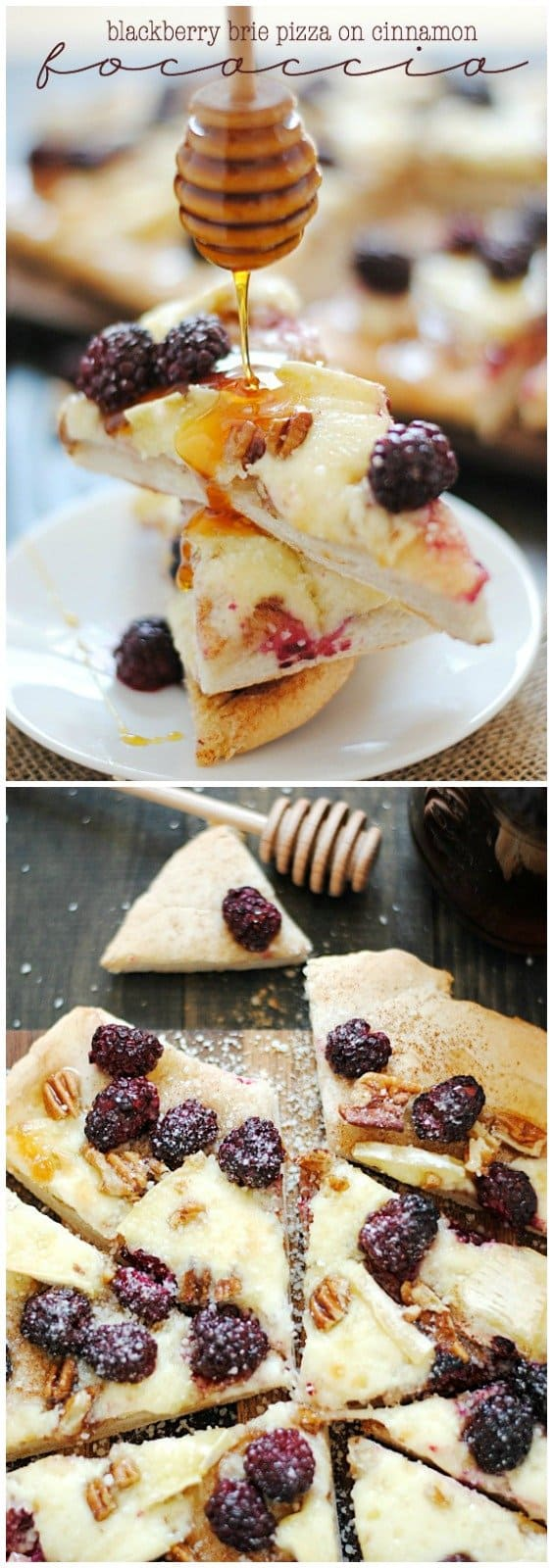Blackberry Brie Pizza on Cinnamon Focaccia | www.somethingswanky.com