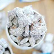 Almond Joy Muddy Buddies | www.somethingswanky.com
