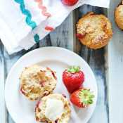 Strawberry Basil Muffins | www.somethingswanky.com