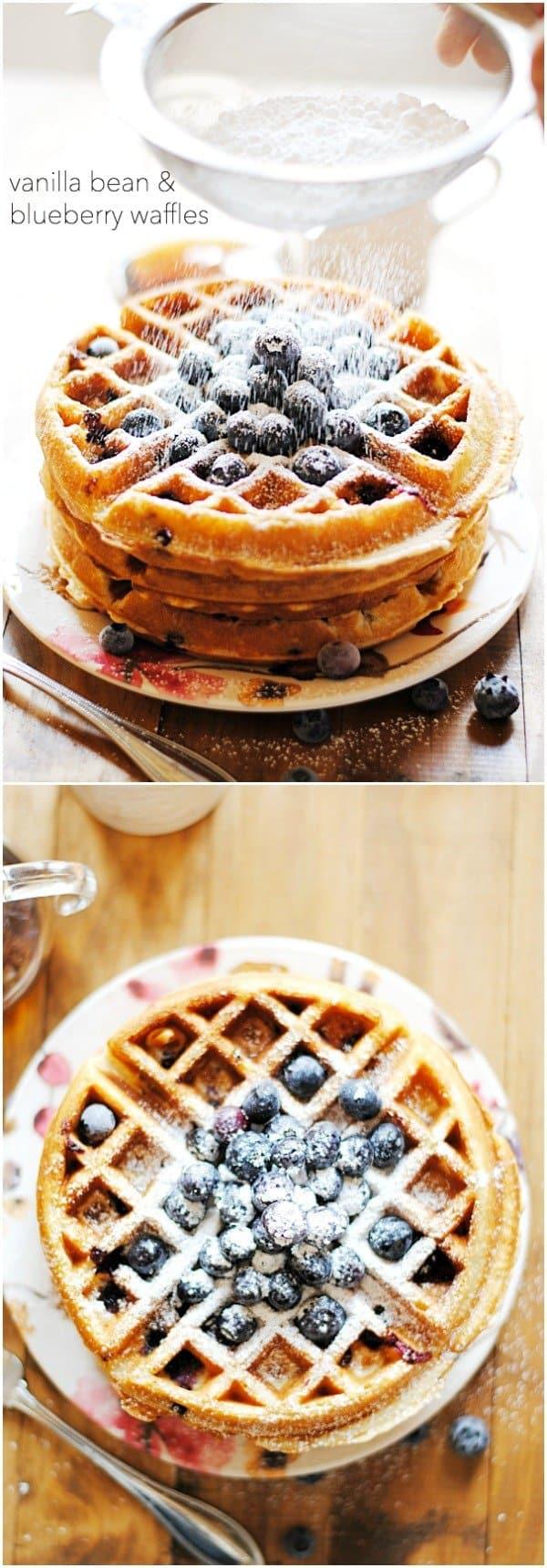 Blueberry Waffles | www.somethingswanky.com
