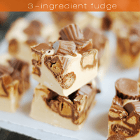 Easy Peanut Butter Reese's Cup Fudge