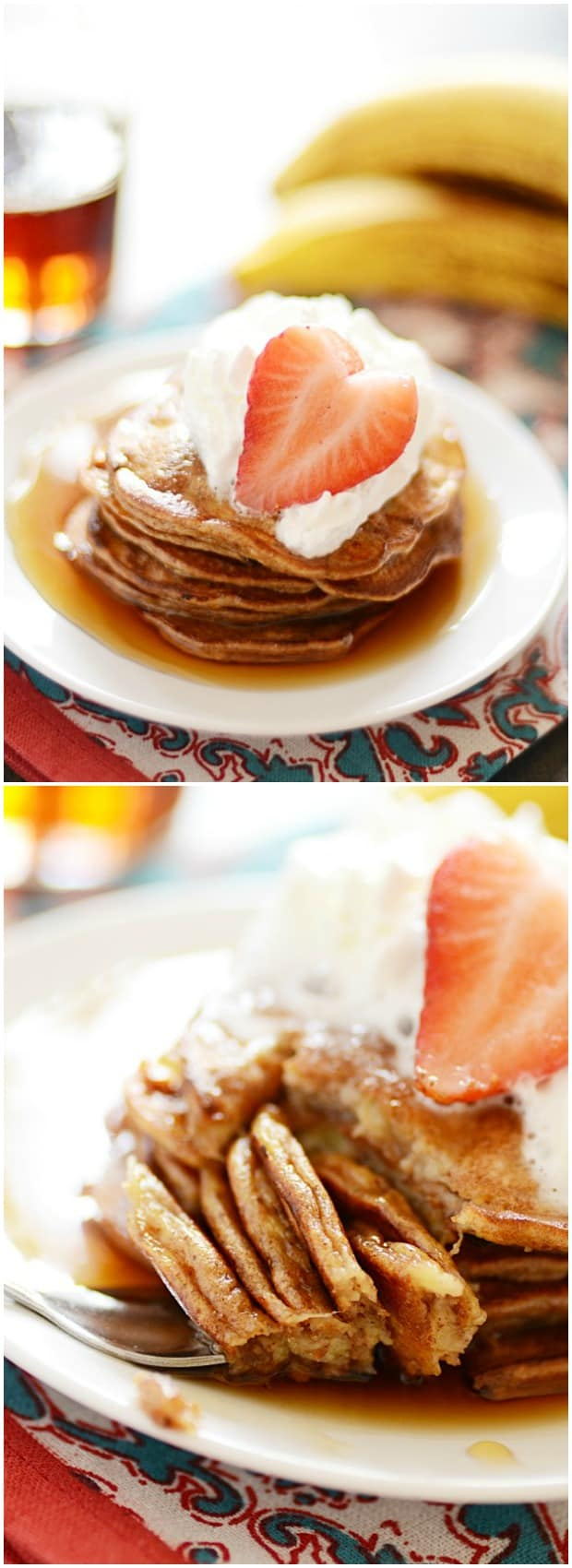 ... pancakes from that typical rubbery, egg-y feel most banana pancakes