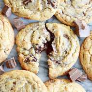 Double Chocolate Chocolate Chunk Cookeis