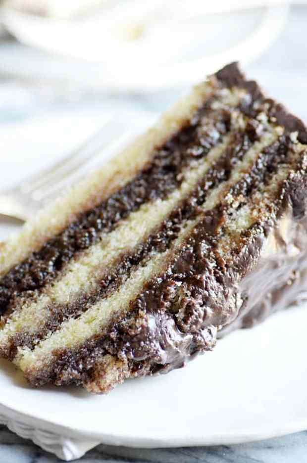 ... cake soaking up rich, fudgy chocolate layers of my Grandma's famous
