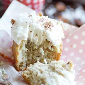 This Southern classic is banana bread and cupcake all rolled into one! A super moist banana cupcake with crushed pineapple, coconut, and pecans folded into the batter topped with an irresistibly dreamy cream cheese frosting.