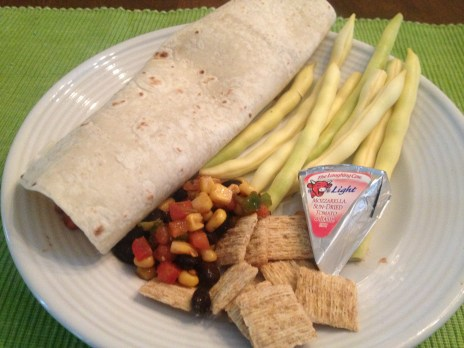 Cheesy lunch wrap? Comin' right up! Perfect for breakfast, lunch OR dinner.