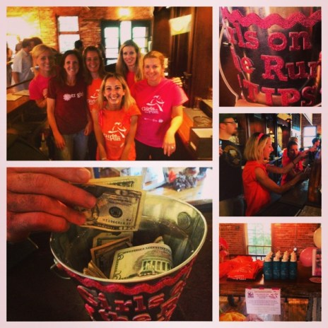 Guest Bartending for Girls on the Run...we raised a whole lotta money for a good cause!