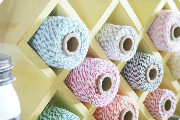 how to organize bakers twine