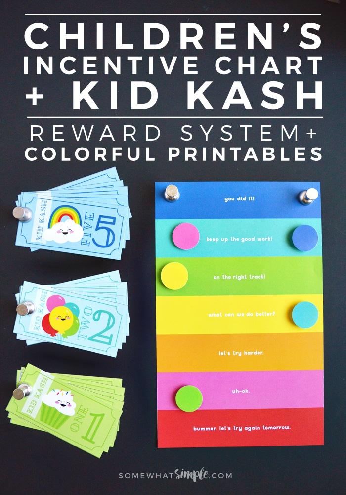 Behavior Chart + Kid Kash Printable Reward System - kids chart
