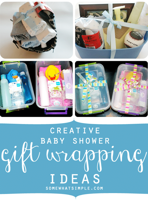 creative baby shower gift wrapping somewhat simple