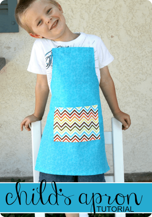 childs apron tutorial