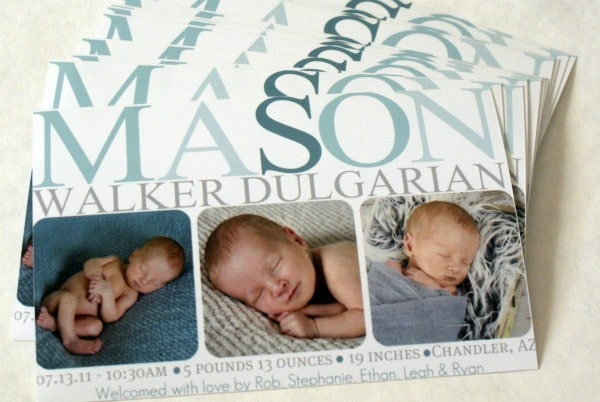 How to make your own birth announcements