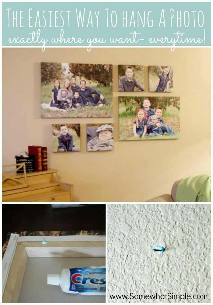 Why didn't I think of this? How to hang a photo collage using the easiest method!