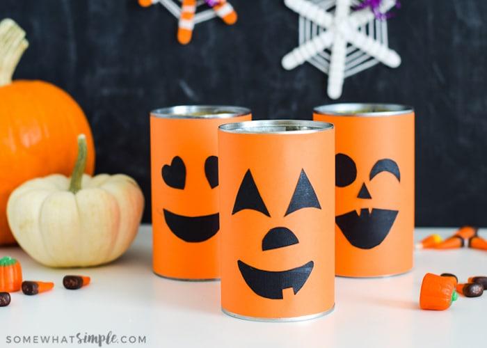 Pumpkin Crafts \u2013 Tin Can Pumpkins somewhat simple Bloglovin\u0027