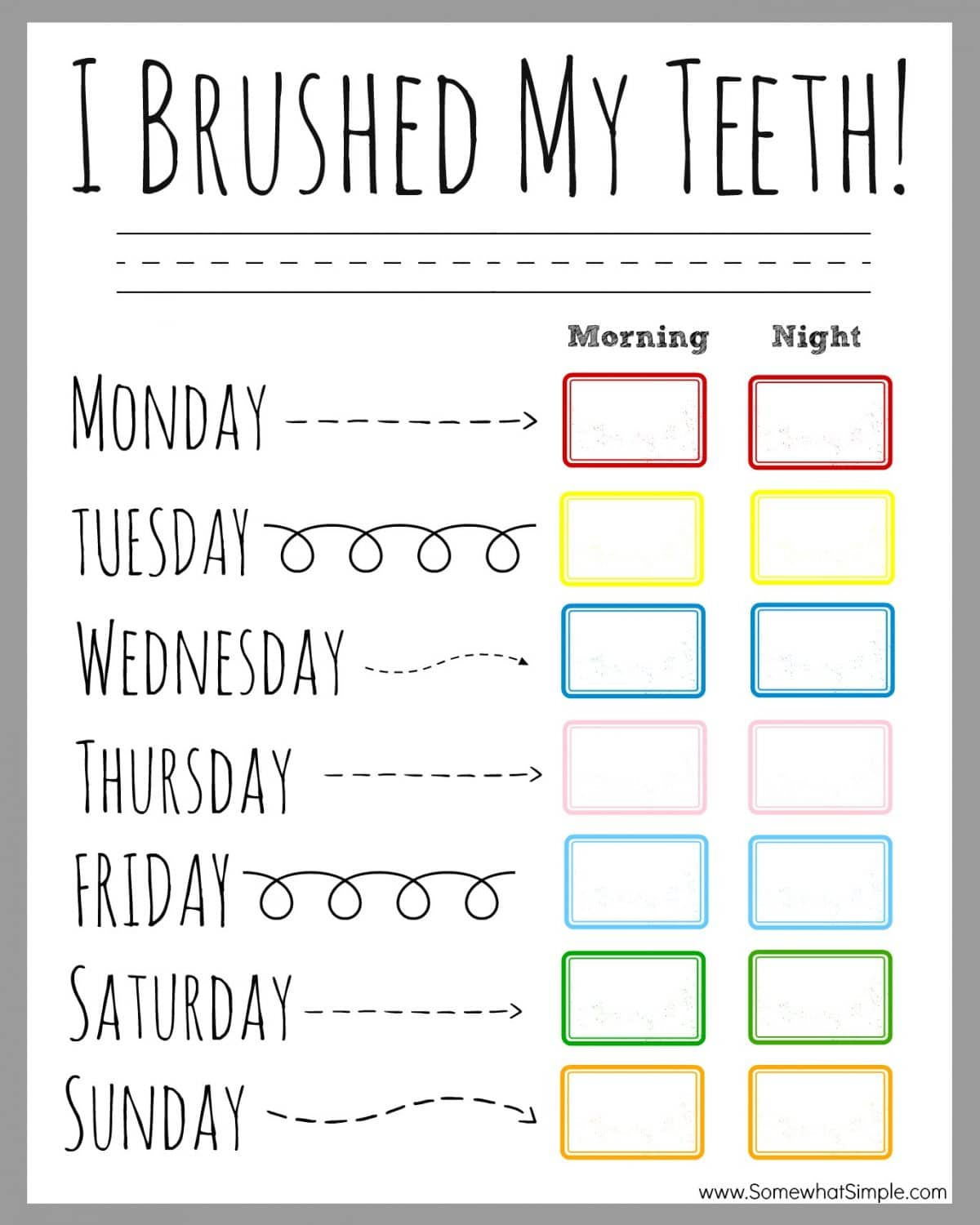 Your Name Here Calendars Custom Business Calendars Teeth Brushing Incentive Chart Somewhat Simple