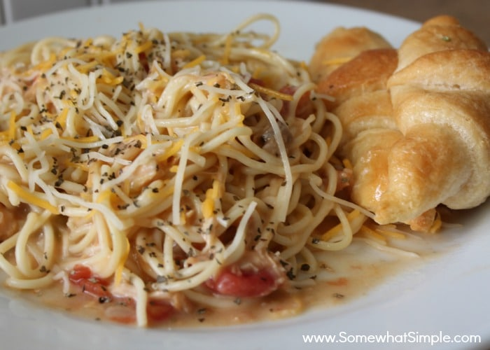 crock pot cheesy chicken spaghetti 2