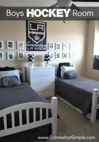He Shoots, He Scores: Boys Hockey Bedroom - Somewhat Simple