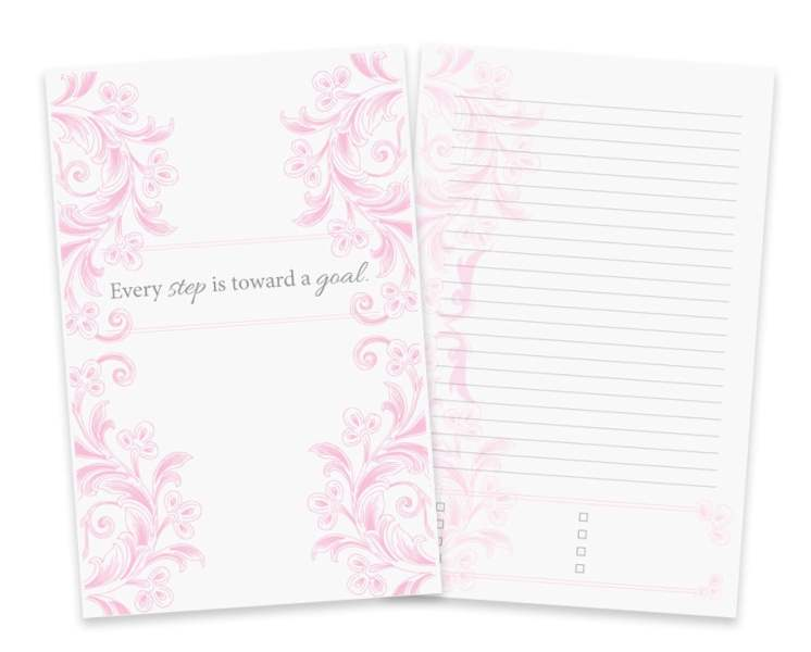 Printable daily journal with room for custom goal tracking