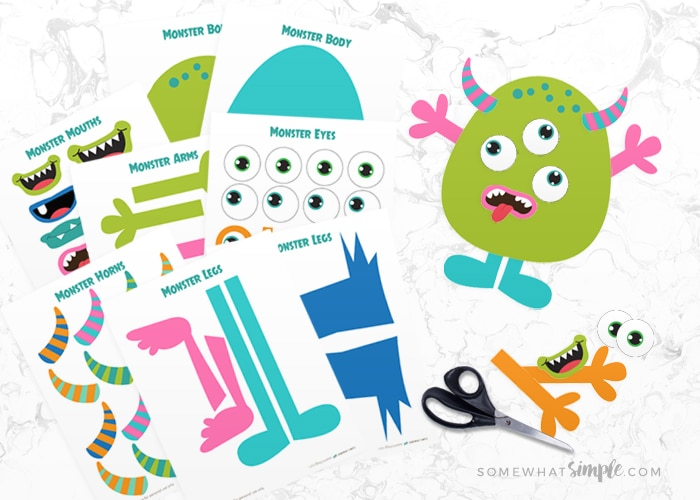 Build A Monster Free Printable Craft Kit Somewhat Simple