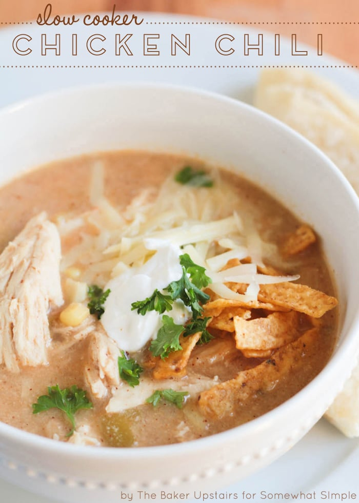 Slow Cooker Chicken Chili - Somewhat Simple