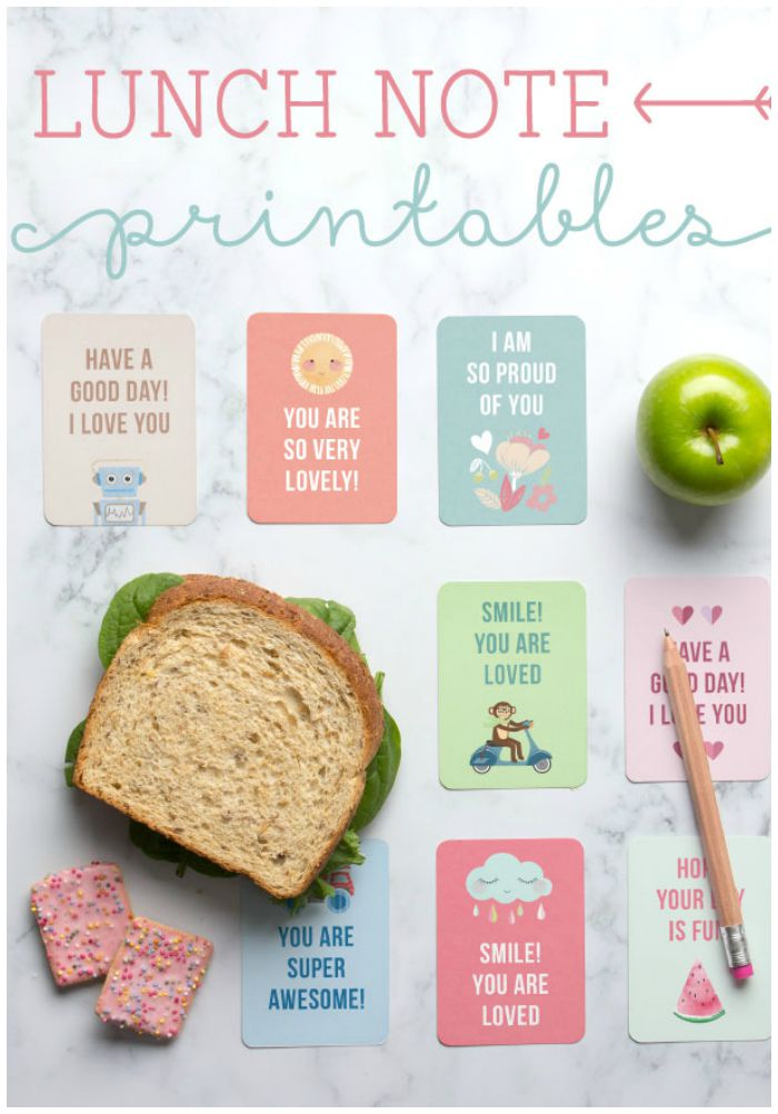 Back to School Lunch Box Notes - Somewhat Simple