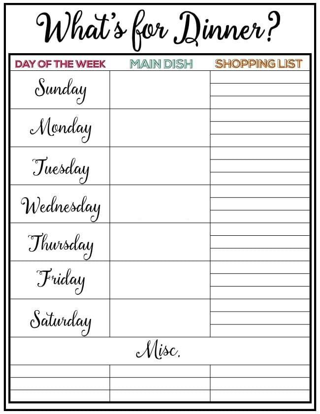 Tasty Summer Menu Plan - Weekly Meal Plan #34 - Your Homebased Mom - weekly dinner meal plans